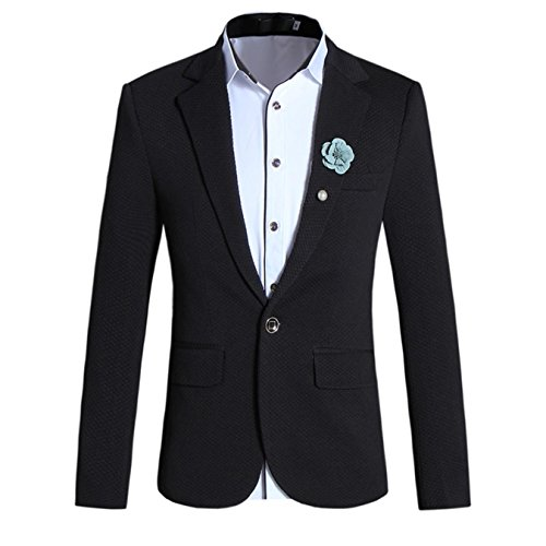 KORJDK Button Closure Slim Fit Men Blazers Plus Size Casual Blazer Jacket Masculino Blazer Men
