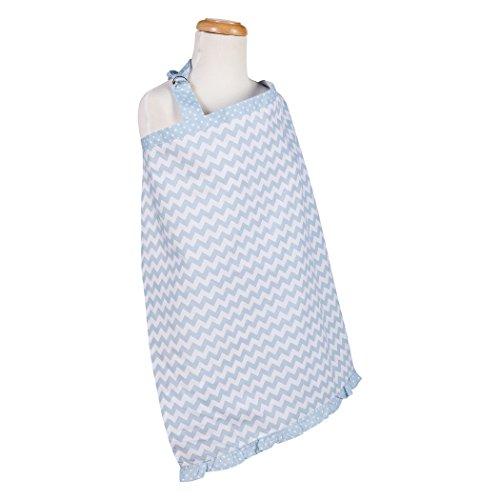 Trend Lab Sky Chevron Nursing Cover, Blue ()