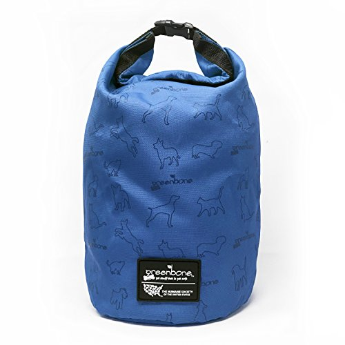 - The Humane Society 35257BL Nylon Self Folding Travel Food Bag, Blue, One Size