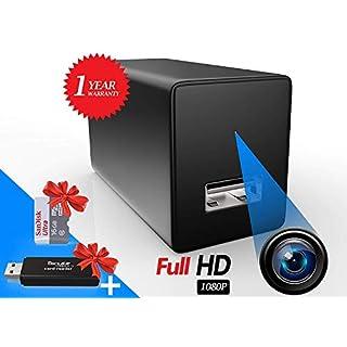 Eyecontik Spy Camera Charger - Free Micro SD Card Included - Hidden Camera - Spy Cam - Nanny Cameras - Hidden Security Camera - Mini Camera - Wall Charger - Small Camera - Surveillance Camera Full HD