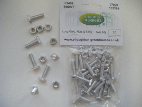 20 Long Cropped High Tensile Greenhouse Nuts & Bolts