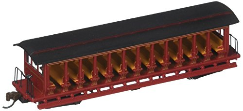 Bachmann Industries Inc. Jackson Sharp Open-Sided Excursion Car Painted, Unlettered - N Scale, Burgundy and Black
