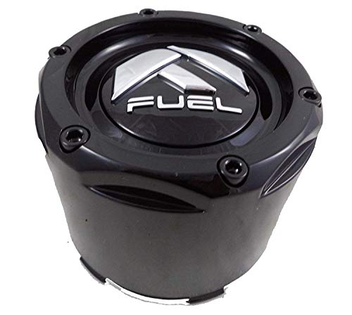 Fuel Gloss Black Rivets Custom Wheel Center Caps Set of One (1) - Custom Off Road Wheels