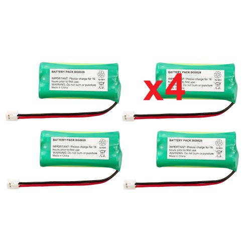 - 4 Fenzer Rechargeable Cordless Phone Batteries for Vtech 6030 6031 6032 6041 6042 6052 6053 Cordless Telephone Battery Replacement Packs
