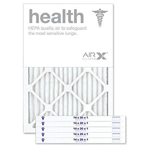 AIRx HEALTH 14x20x1 MERV 13 Pleated Air Filter - Made in the USA - Box of 6