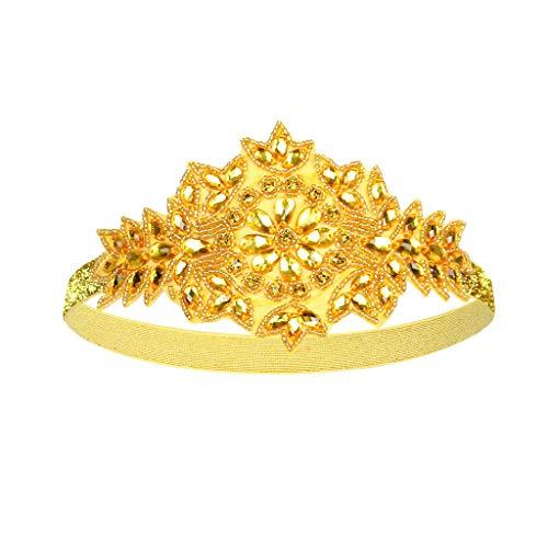 hositor Headbands for Women, Flapper Great Gatsby Headband Pearl Charleston Party Bridal Headpiece Lady Gold ()