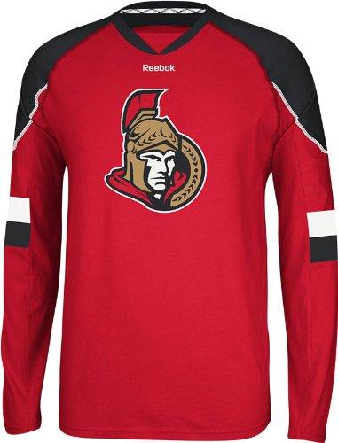 NHL Ottawa Senators Men's Edge Long Sleeve Jersey Tee, Red, Medium