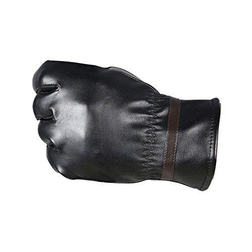 Gloves,NOMENI Men Warm Cashmere Leather Male Winter Gloves Driving Waterproof