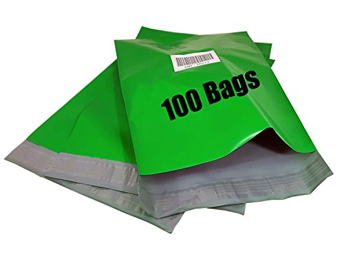 iMBAPrice 100-10x13 Green Color Poly Mailers Shipping Envelopes Bags (Total 100 Bags)