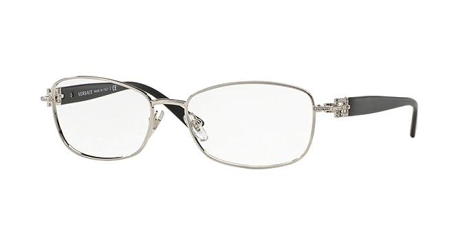 e5994b80b53d Amazon.com: Versace Eyeglasses VE 1226B Eyeglasses 1000 Black and ...