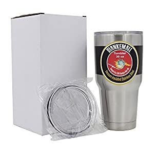 Diankemall 30 Oz Stainless Steel Tumbler   Travel Cup   Mug, Double Wall, Vacuum Insulated   2 Splash Proof Lids ( 1 Standard, 1 Sliding)