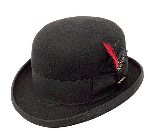 Bellame Bowler Hat Wool-One Fresh Hat (Black, large)