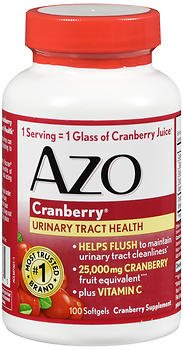Azo Cranberry Supplement - 100 Softgels, Pack of 4 by AZO