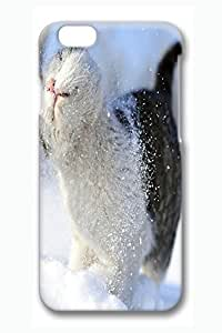 Personalized Protective Hardshell Case Cover For Iphone 6 Plus 5.5 Inch 3D Print Designs Snow Cat Pattern Non-slip Back Case Cover For Iphone 6 Plus 5.5 Inch Avai Unique diy case