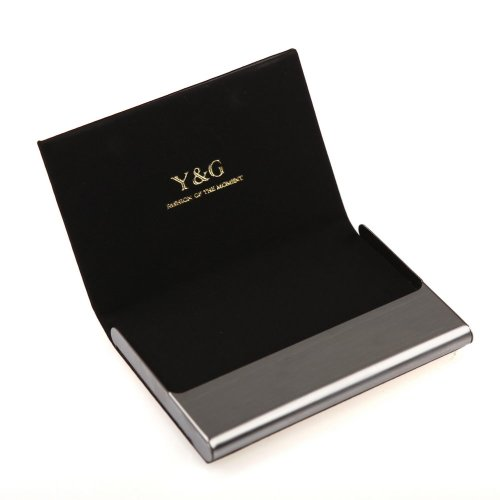 Y&G CC1013 Black Business Creative Formal Wear Dress Presents Idea Card Holder Leather PU Black Card Case ()