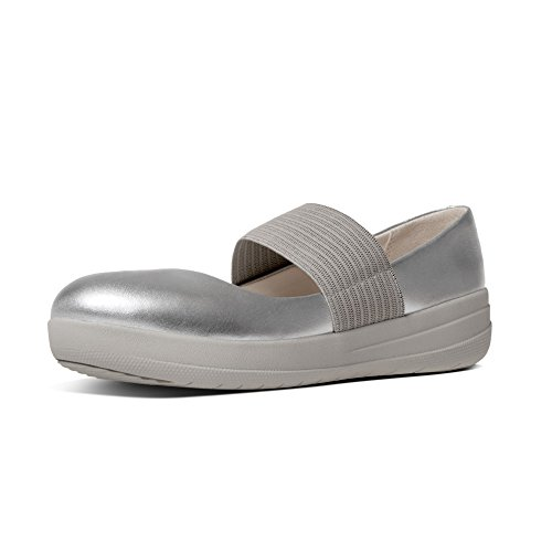 TM Fitflop Jane Leather Mary Donna Silver Fsporty Argento Basse FqwxA