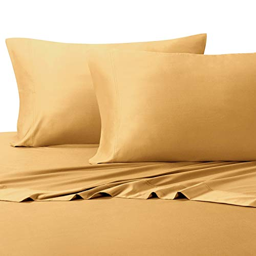 Silky Soft Twin Extra Long (Twin XL) Bamboo Sheets in Relaxing Gold Color; 100% Viscose Temperature Regulated Fabric