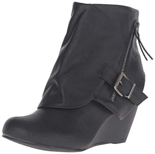 (Blowfish Women's Bilocate Ankle Bootie, Black Old Ranger Polyurethane, 9 M)