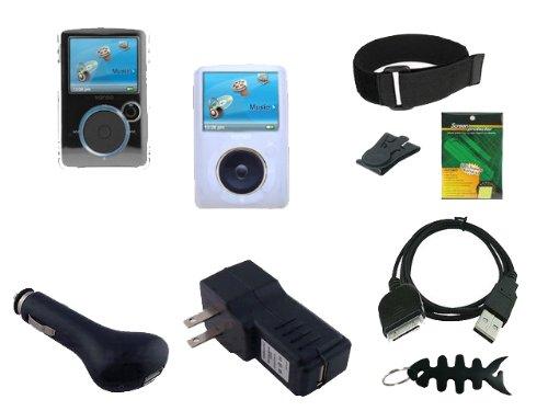 iShoppingdeals - 9 Item Accessories Bundle for Sandisk Sansa Fuze SDMX14R MP3 Player