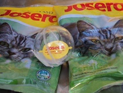 Josera Pelota de juguete para gatos y 2 muestras de pienso Sensicat