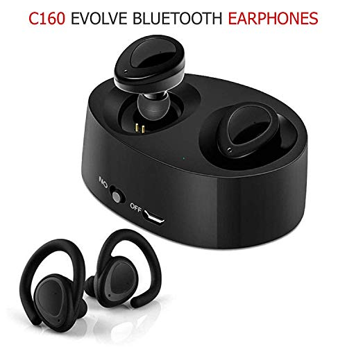 (Renewed) Chevron C160 Evolve Bluetooth Earphones with Mic (Black)