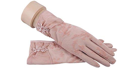 formanism エレガント 大人上品 ガーリー シックカラー 紫外線防止 UV サマー手袋 レディース (C)