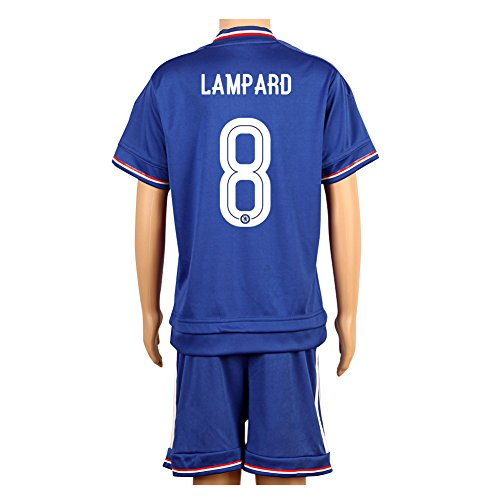 (Blue #8 Lampard UCL Home Kids Youth Soccer Jersey)