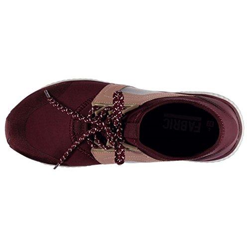 Tessuto Bounce invernale da donna rosso sneakers scarpe sportive calzature