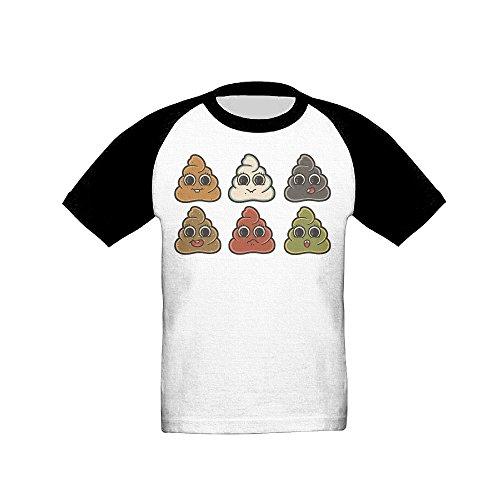 Saroyo Baby Poop Toddler Raglan T-Shirts 100% Cotton Baseball Short Sleeve Tee 5-6 Toddler