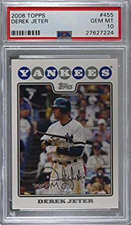 2008 Topps #455 Derek Jeter New York Yankees Baseball Card Verzamelkaarten, ruilkaarten Verzamelkaarten: sport