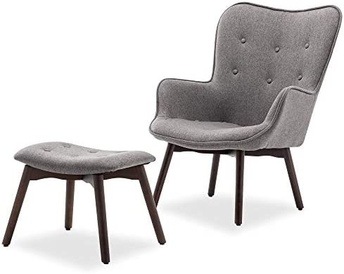 BELLEZE Contemporary Tufted Upholstered Fabric Lounge Chair