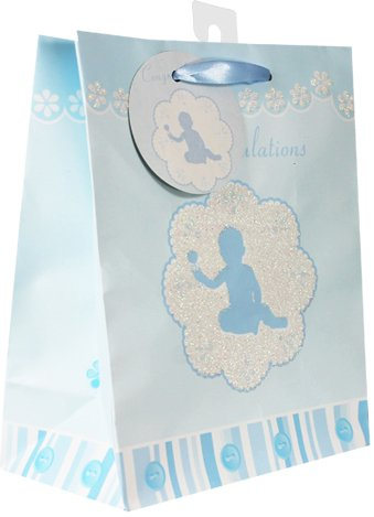 Baby Gift Bags, with glitter, 12 Piece Pack, Medium Photo #4