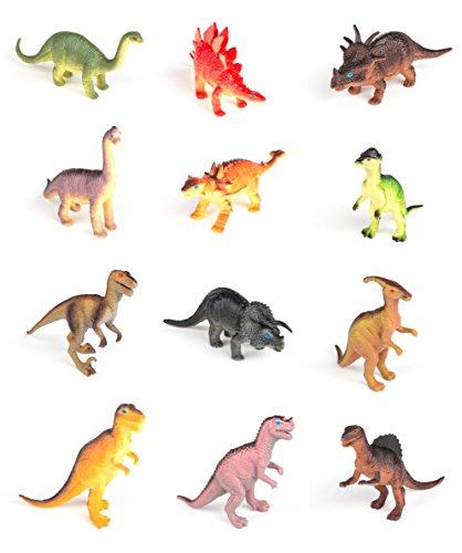 Realistic Jurassic Period Dino Toy 12 Dinosaur Toys Neliblu Educational Dinosaur Figures Animal Themed Party Accessory 12 Soft Squeezable Animal Den Stegosaurus Carnival Prize