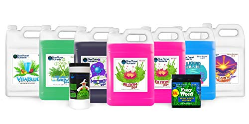 Blue Planet Nutrients Elite High Yield Deluxe Kit Gallon (128 oz Bottles) | Hydroponic Aeroponic Soil Coco Coir | Grow Fruits Flowers Herbs Vegetables | Indoor & Outdoor | Complete Kit Bundle