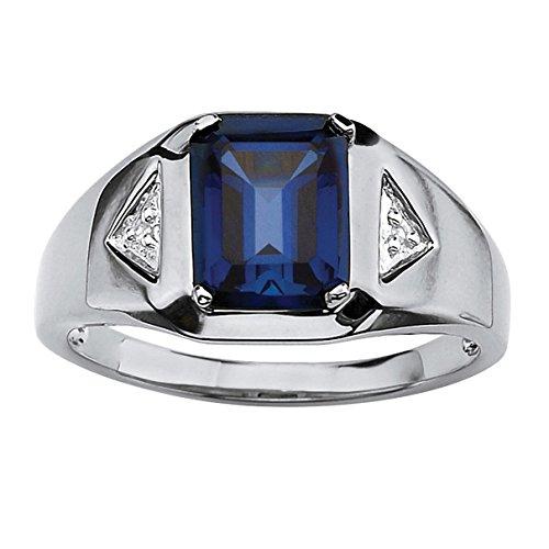 platinum sapphire ring - 7