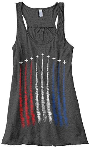 Women's Red White Blue Air Force Flyover Tank Top