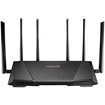 ASUS RT-AC3200 Wireless-AC3200 Tri-Band Wireless Gigabit Router, AiProtection with Trend Micro for Complete Network Security