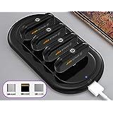 Magnetic Power Bank Mini Finger Emergency Mobile Power Magnetic Portable Mobile Fast Charging External Battery (Standard, Black(1500 mAH))