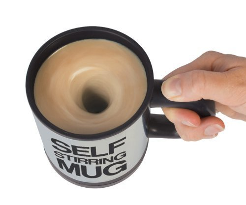 Zehui–coffeeself taza taza de remover oficina café taza de té mezcla para mezclar Stir Gag regalo negro