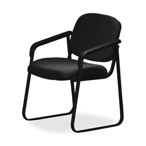 Wholesale CASE of 2 - Office Star Deluxe Sled-Base Armchairs-Deluxe Sled Base Chair, With Arms, 23