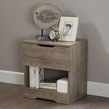 South Shore Holland Nightstand, Weathered Oak