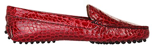 BRUNO MAGLI Damen Mokassins Handmade Rot 1000-COCCO-ROSSO, Groesse Eur:40