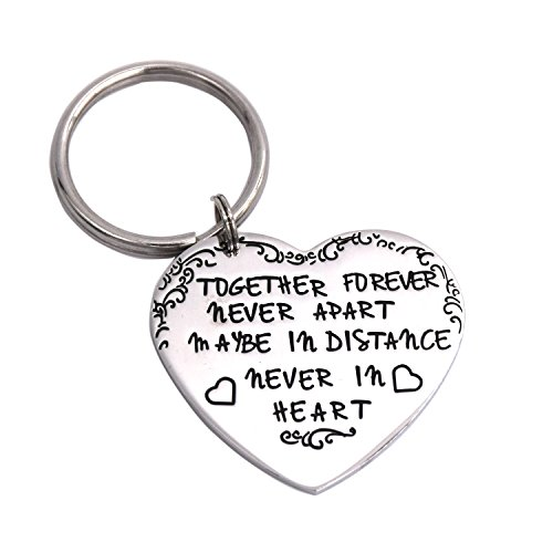 LParkin Together Forever Never Apart Maybe In Distance Never In Heart Keychain - Together Rings Forever