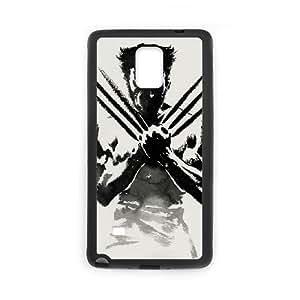 Samsung Galaxy Note 4 Cell Phone Case Black Wolverine qak