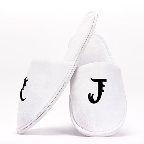 Personalisierte Hausschuhe mit Ihren Initialen Einheitsgröße Individuelles Geschenk für Junggesellinnenabschiede Hochzeiten Geburtstage Reisen