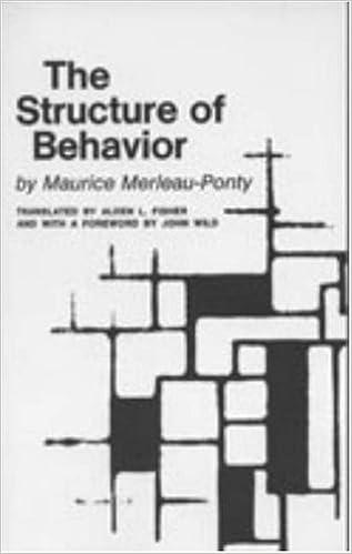 The Structure Of Behavior Maurice Merleau Ponty 9780820701639