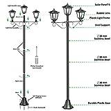 "Update 72"" Solar Lamp Post Lights"