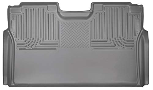 Husky Liners 19372 Grey Second Seat Fits 15-19 F150 SuperCrew Cab Cab Grey Front Floor Liners