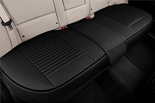 (Big Ant Back Seat Covers, Separated Seat Cover PU Leather Back Car Seat Covers Breathable Back Cover Fit for Most Car, SUV, Vehicle Supplies (Black-Flexible for Different Seat)