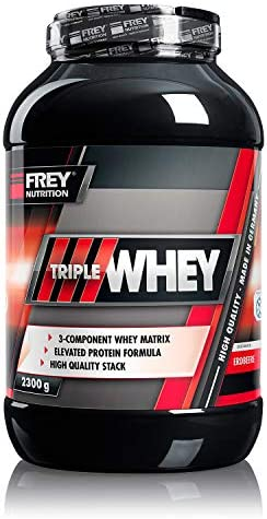 Frey Nutrition Triple Whey Protein 2,3Kg Dose (Erdbeere) by Frey Nutrition